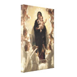 Regina Angelorum by Bouguereau, Victorian Angels Stretched Canvas Prints