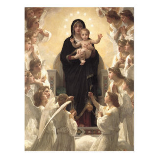 Regina Angelorum by Bouguereau, Victorian Angels Post Cards