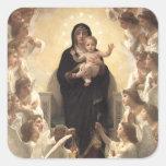 Regina Angelorum by Bouguereau, Victorian Angels Sticker