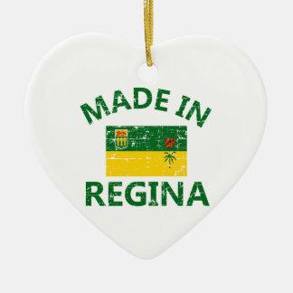 Regina Coat of arms Ceramic Heart Decoration