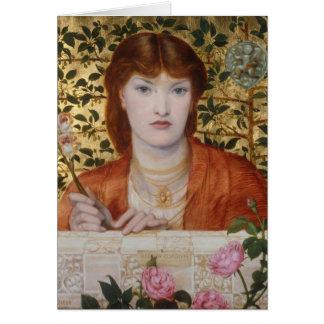 Regina Cordium - Dante Gabriel Rossetti Card