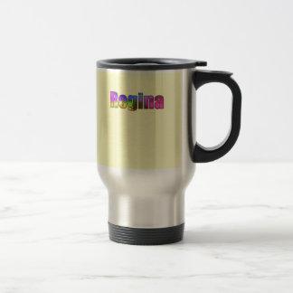 Regina yellow travel mug