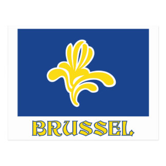 Region of Brussels Flag with Name Dutch Post Cards
