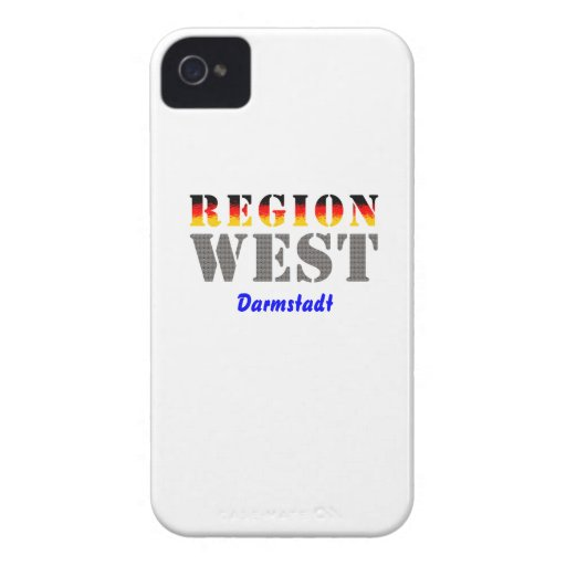 Region west - Darmstadt iPhone 4 Case-Mate Case