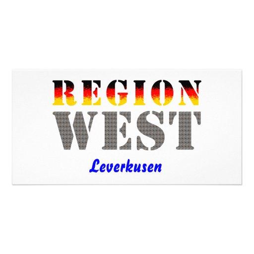 Region west - Leverkusen Photo Greeting Card
