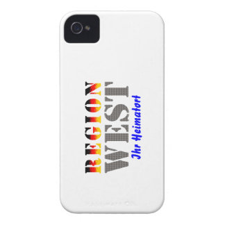 Region west - your place of residence iPhone 4 cover