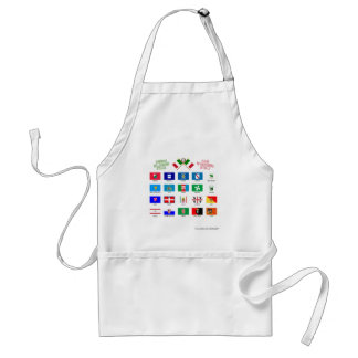 Regional Flags of Italy Standard Apron