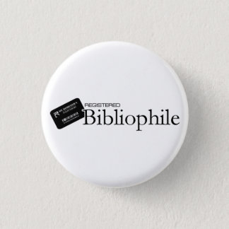Registered Bibliophile 3 Cm Round Badge