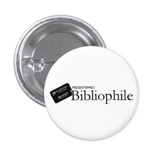 Registered Bibliophile 3 Cm Round Badge