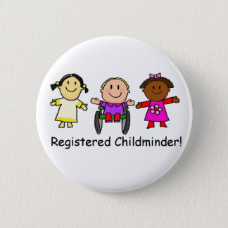 Registered Childminder 6 Cm Round Badge