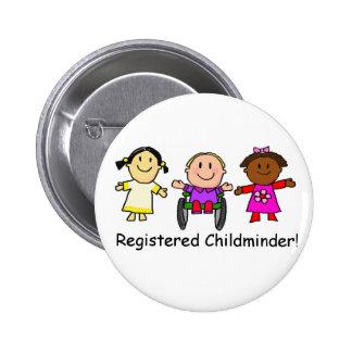 Registered Childminder 6 Cm Round Badge
