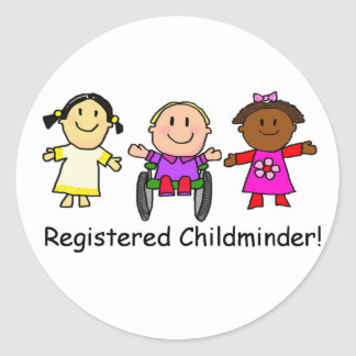Registered Childminder Classic Round Sticker