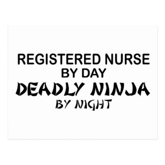 Registered Nurse Deadly Ninja Postcard