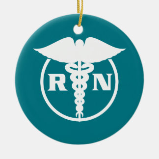Registered Nurse Emblem Christmas Ornament