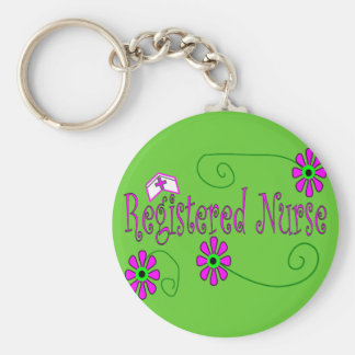 Registered Nurse gifts-- Basic Round Button Key Ring