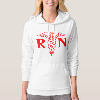 Registered nurse hoodies | RN with caduceus logo