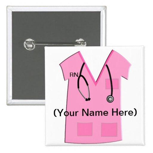 Registered Nurse Name Badge Button