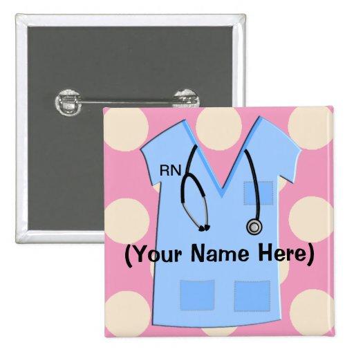 Nursing Home Design Standards Uk: Registered Nurse Name Badge Pinback Buttons