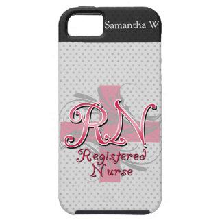 Registered Nurse, Pink Cross Swirls iPhone 5 Covers