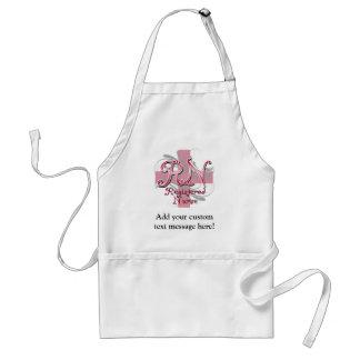 Registered Nurse, Pink Cross Swirls Standard Apron
