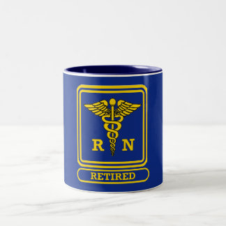 Registered Nurse Retired Two-Tone Coffee Mug