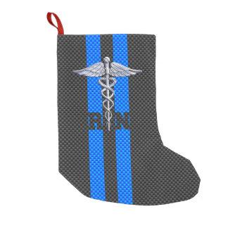 Registered Nurse RN Caduceus Carbon Fiber Stripes
