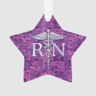 Registered Nurse RN Caduceus on Fuchsia Camo