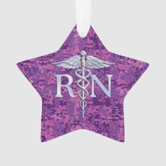 Registered Nurse RN Caduceus on Fuchsia Camo