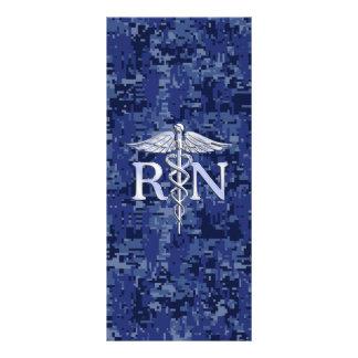 Registered Nurse RN Caduceus on Navy Camo Rack Card Design