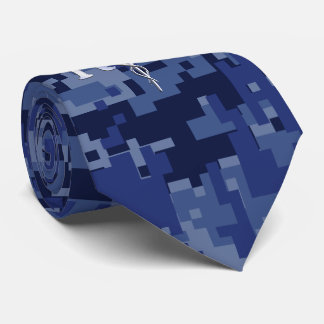 Registered Nurse RN Caduceus on Navy Camo Tie