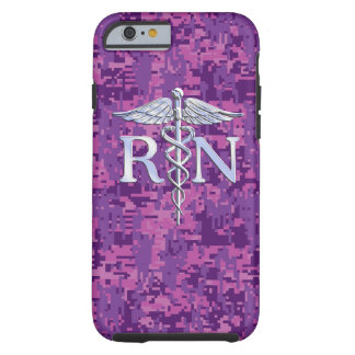 Registered Nurse RN Caduceus on Pink Camouflage Tough iPhone 6 Case