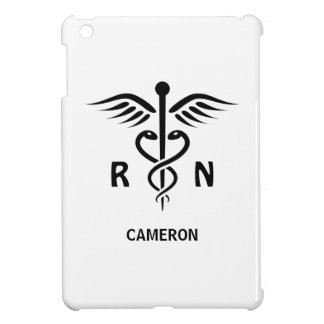 Registered nurse RN caduceus symbol personalized Cover For The iPad Mini