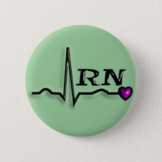 """Registered Nurse """"RN"""" Gifts QRS Design 6 Cm Round Badge"""