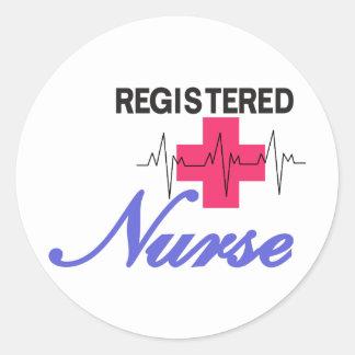 Registered Nurse Round Sticker