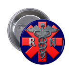 Registered Nurse Symbol 6 Cm Round Badge
