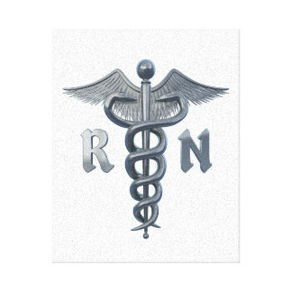 Registered Nurse Symbol Gallery Wrapped Canvas