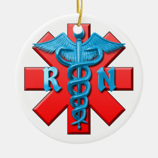 Registered Nurse Symbol Christmas Ornament