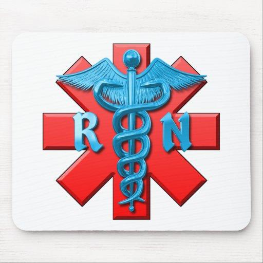 Registered Nurse Symbol Mouse Pads