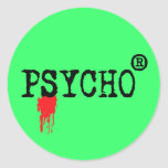 Registered Psycho Round Sticker