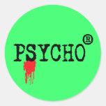 Registered Psycho Round Sticker