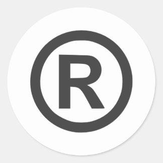 Registered Round Sticker