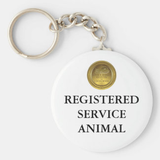 Registered Service Animal Tag or Keychain