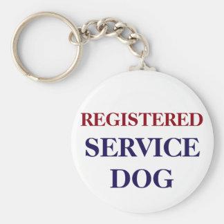 REGISTERED SERVICE DOG KEYCHAIN OR DOG TAG