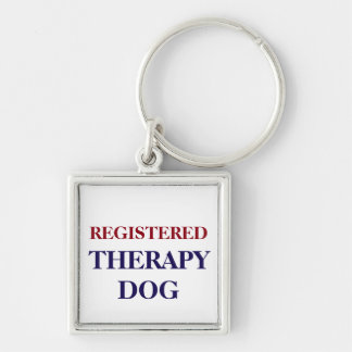 REGISTERED THERAPY DOG KEYCHAIN OR DOG TAG