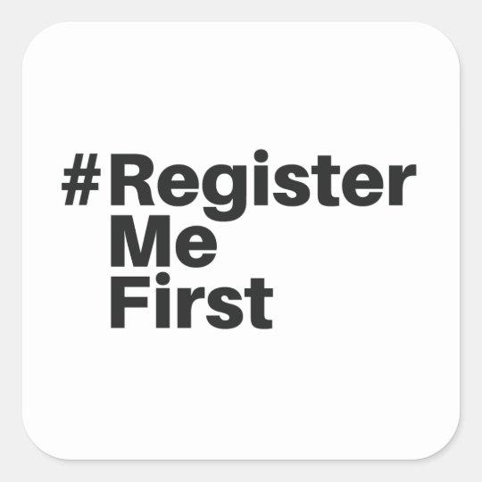 #registermefirst Sticker (1)