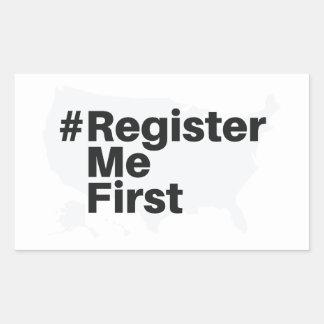 #registermefirst Sticker (Rectangle)