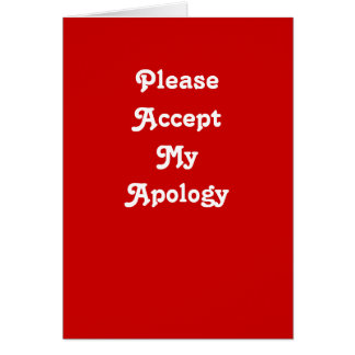 Regret greeting card