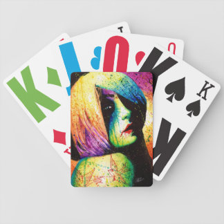 Regrets - Pop Art Portrait Bicycle Playing Cards