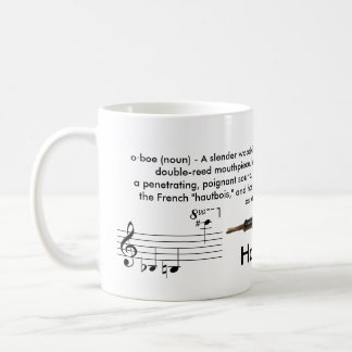 Regular sized (11 oz.) Oboe mug
