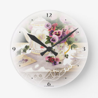 Regular Wall clock with Painting of Victorian Tea